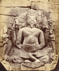 Inscribed statue of Brahma, from Garhwa, Allahabad District.